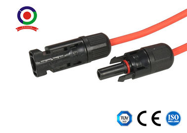 China MC4 cable solar flexible ignífugo, cable negro del panel solar 1000V fábrica